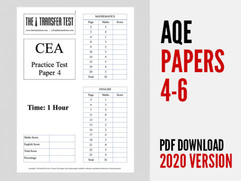 AQE Practice Test Papers 4-6