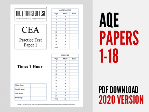 2020 AQE (CEA) Practice Test Papers