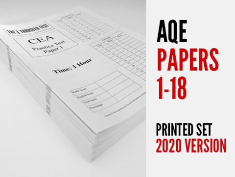 AQE (CEA) Practice Papers 1-18 (2020 Version) Printed