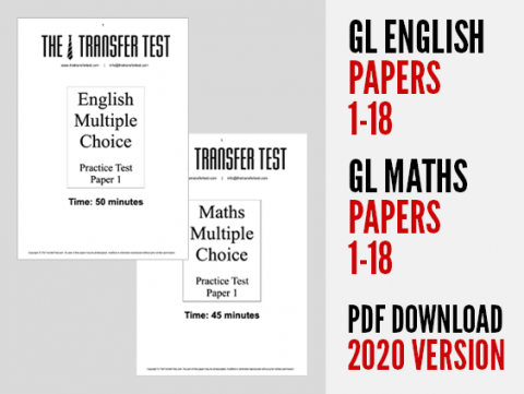 GL English & Maths Papers 1-18 (2020 Version)