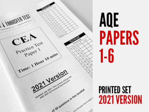AQE Papers 1-6 - 2021 Version (Printed)