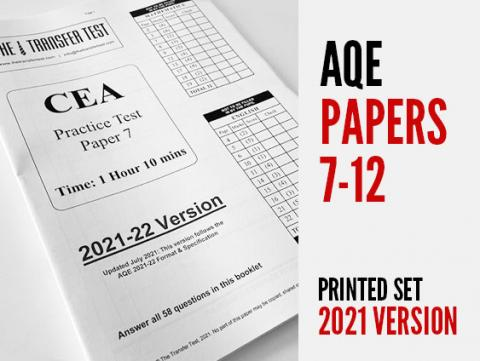 AQE (CEA) Practice Papers 7-12 (2021 Version)