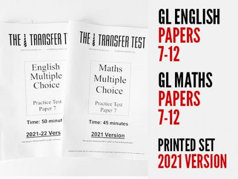 GL English & Maths Papers 7-12 (2021 Version)