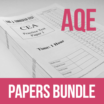 AQE Common Entrance Assessment (CEA) Practice Test Papers Bundle