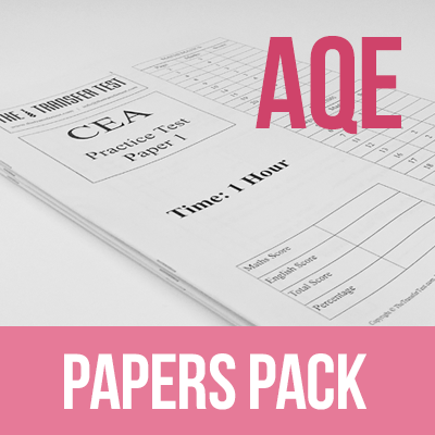 AQE (CEA) Practice Test Papers Pack 1